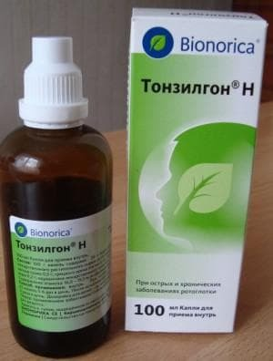 Tonzillon H for inhalation