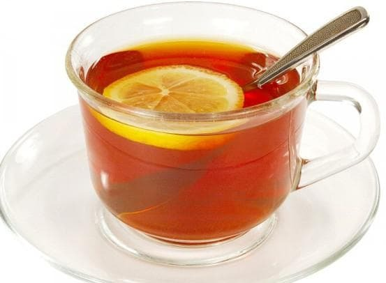 tea with lemon from sore throat