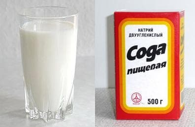 milk and soda from cough