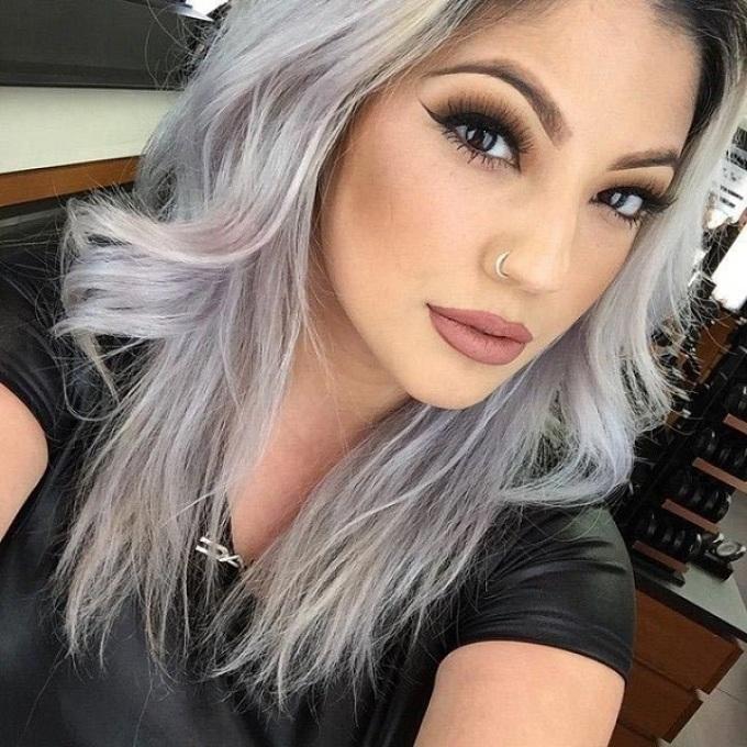 Mature big tits gray hair