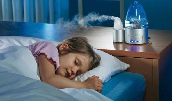 air humidifier in a child