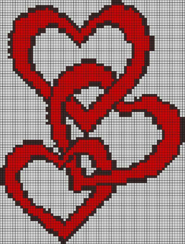 картинки по клеточкам сердечки с флагами нашем каталоге собраны