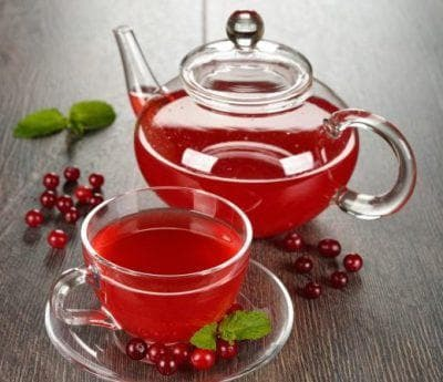 tea with cranberries for children