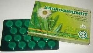 chlorophyllipt tablet form with angina