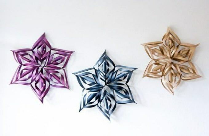 Fiocchi Di Neve Di Carta 3d : Fiocchi di neve volumetrici dalla carta con le proprie mani