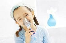 inhalation with soda for children in the nebulizer