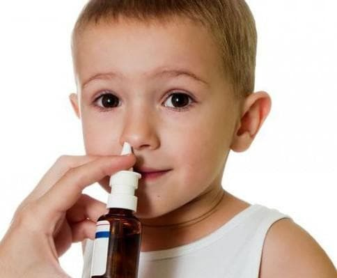 Nasal congestion with genyantritis in children