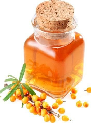 sea ​​buckthorn oil for lubricating the nasal cavity