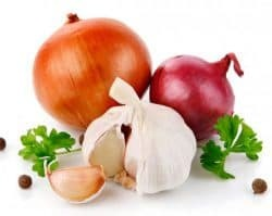 onions and garlic for colds