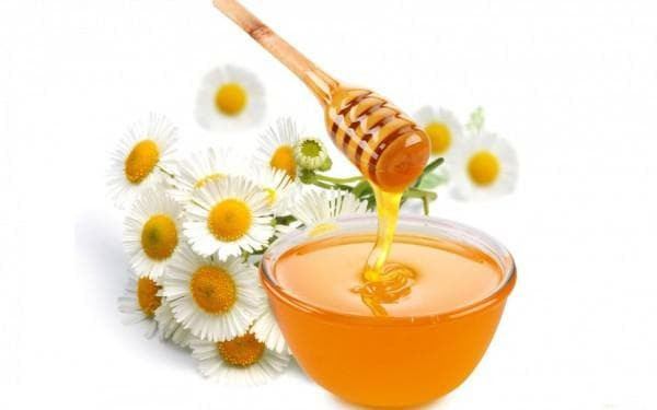 chamomile and honey from sore throat