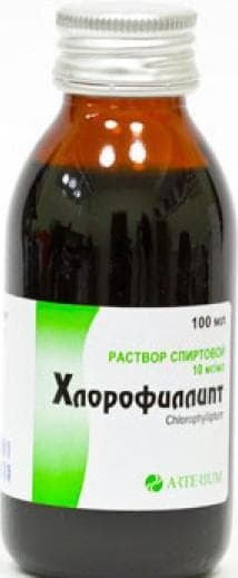 chlorophyllipt alcohol solution with angina