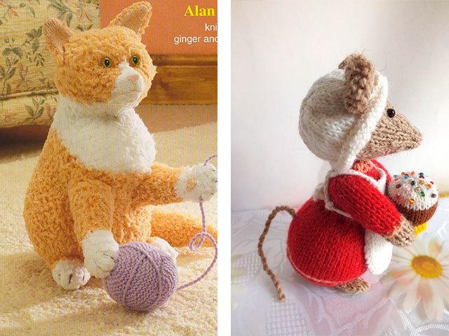 Вязание кошек спицами 20
