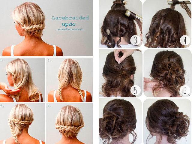 Пошаговые прически для средних волос своими руками